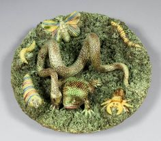 Portuguese Palissy style plate