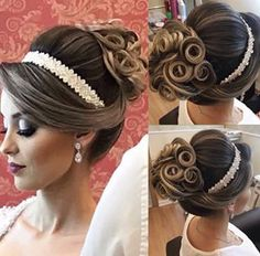 Engagement Hairstyles, Bride Hairstyles, Updo With Headband, Vintage Updo, Hair Care Recipes, Hair Up Styles, Diy Wedding Hair, Special Occasion Hairstyles, Wedding Hair Inspiration