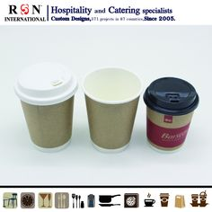 Hospitality Supplies, Disposable Coffee Cups, Brown Coffee, Kraft Paper, Cold Drinks, Catering, Custom Design, Tableware, Cool Drinks