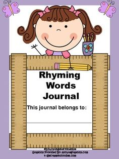 FREE....Rhyming Words Journal: Includes Boy and Girl Cover~ #reading #tpt #free