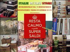 Italie Outlet Store, Den Bosch, tijdelijke winkel met Italiaanse spullen