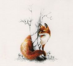 art-courtney-brims-fox-legs-Favim.com-176776.jpg 550×500 pixels If I did this it would be with a Japanese Cherry blossom tree with a fallen blossom for my mother.