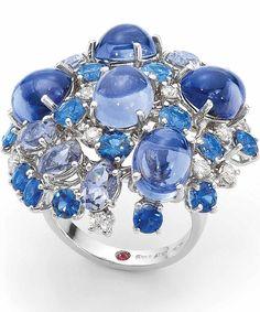 FashionJewelleryModern | Rosamaria G Frangini || {Daily Jewel} Sapphire and Ruby Ring by Roberto Coin via Haute Tramp