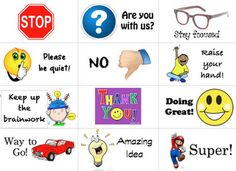 You could use this as a non-verbal communication while teaching Behavior Cards, Classroom Behavior Management, Student Behavior, Behaviour Management, Class Management, Student Rewards, Quiet Critters, School Social Work, Classroom Organization