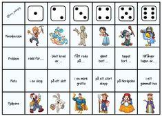 3 olika spelplaner där dina elever kan få starten till en egen saga. Playing Cards, Playing Card Games, Game Cards, Playing Card