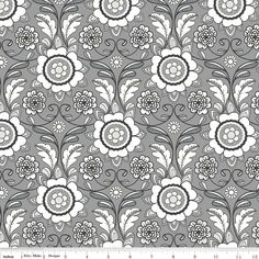 NEW Parisian Scroll Print fabric by Riley Blake by SewFancyFabrics