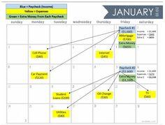 Bill Paying system/calendar