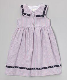 Red Seersucker Americana Dress - Toddler & Girls