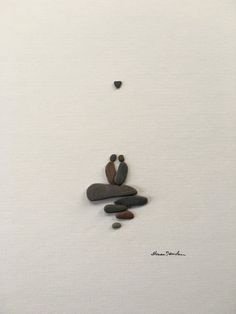 8 by 10 pebble art by sharon nowlan by PebbleArt on Etsy