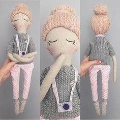 "Polubienia: 101, komentarze: 4 – Handmade Doll LOVE (@dollyfete) na Instagramie: ""Love this doll and her @latutunya"""