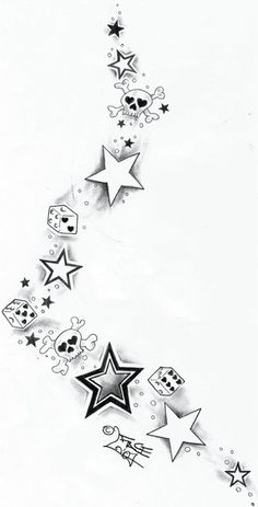 back star tattoo designs for women - Google Search