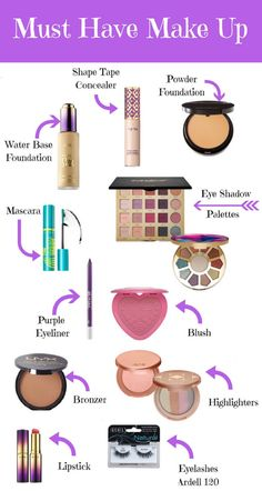 My list for must have make up, especially for beginners. These products I continually reach for and will not disappoint. Can you tell I am currently obsessed with Tarte?