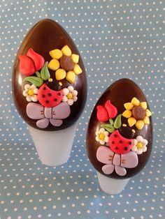 Zuccherosamente...: Uova di pasqua decorate stile thun