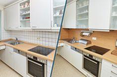 Led Spots, Kitchen Cabinets, Storage, Furniture, Home Decor, Old Kitchen, Remodels, Set Of Drawers, Purse Storage
