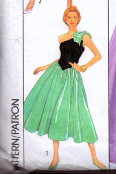 Vintage Sewing Pattern Simplicity 9082 Special Occasion Dress
