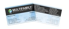 Short Run Cards - Frosted Clear Business Card #frosted #clear #plastic #businesscard