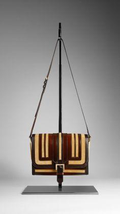 framed suede crossbody bag - burberry prorsum