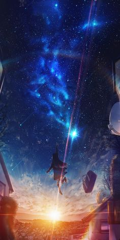 Wall Paper Iphone Art Anime Ideas For 2019 Fantasy Art Landscapes, Fantasy Landscape, Fantasy Artwork, Sky Anime, Anime Galaxy, Anime Scenery Wallpaper, Galaxy Wallpaper, Sunset Wallpaper, Animes Wallpapers