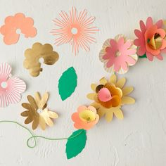 Paper Flowers Garland Kit in House + Home Wall Décor at Terrain
