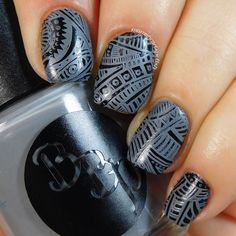 Bad Bitch Polish - Dusty Miller - a blue leaning gray creme stamping polish. #prsample #badbitchpolish #stampingpolish #indiestampingpolish #nails #nailart