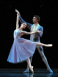 """Evgenia Obraztsova and Philip Stepin in """"In The Night"""" /Mariinsky Ballet /Jerome Robbins """"In The Night"""" at Royal Opera House /August 2011 /photo by John Ross"""
