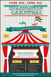 Carnival Monkey Poster from TicketPrinting.com