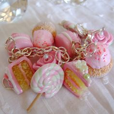 Handmade Pastel Pink Charm Bracelet