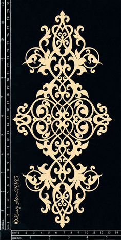 Discover thousands of images about Scrollwork Mais Stencil Patterns, Stencil Designs, Pattern Art, Embroidery Patterns, Pattern Design, Stencils, Damask Stencil, Doodle Drawing, Motif Floral