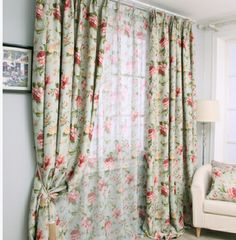 Fashion American style blackout full shade curtain Living room bedroom blocked curtain with matched sheer Size 3*2.5m-inCurtains from Home & Garden on Aliexpress.com | Alibaba Group