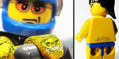 Hey who defaced my legos?    To demonstrate the capabilities of Pilot extra fine pens, GREY advertising agency covered six LEGO minifigures with detailed full body tattoos.