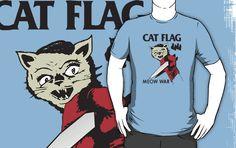black flag, cat flag  http://www.redbubble.com/people/curtisblack72/works/8261416-cat-flag-meow-war