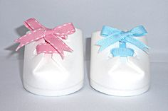 Cute Baby Shoes Favors from Styrofoam cup