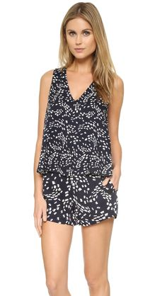 Shopbop Jaxon Printed Romper Found on my new favorite app Dote Shopping #DoteApp #Shopping