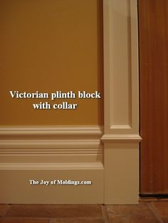 The Wonderful World of Plinth Blocks - The Joy of Moldings.com