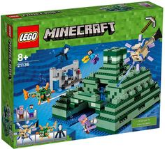 The Lego Ocean Monument - a great selection of Lego construction sets at Wonderland Models. One of our favourite sets in the Lego Minecraft Range is The Ocean Monument set. Lego Minecraft, Images Minecraft, Minecraft Gifts, Minecraft Stuff, Minecraft Party, Lego Lego, Lego Stuff, Lego Ninjago, Kid Stuff