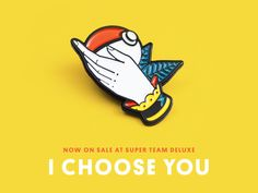 Super Team Deluxe: I Choose You by Justin Mezzell #Design Popular #Dribbble #shots