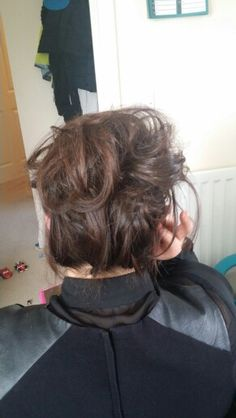 A perfect messy updo..