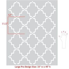 Our popular Moorish Trellis Moroccan Stencils can be used as wall stencils and floor stencils to add a bold pattern to DIY home decor. You only need paint!