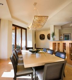 Contemporary Dining Room Lighting Ideas   Homeposh