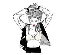 Image about girl in art & illustrations / outlines by chowder Tumblr Outline, Outline Art, Outline Drawings, Art Drawings, Art And Illustration, Illustrations, Kristina Webb, Ligne Claire, Girls Image