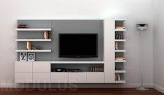 TV unit for those wanting Storage! Tv Cabinet Design, Tv Wall Design, Tv Unit Design, Living Room Wall Units, Home Living Room, Living Room Designs, Living Tv, Tv Unit Decor, Tv Wall Decor