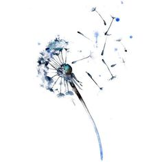 Items similar to Dancing Blue Dandelions ( original watercolor... ❤ liked on Polyvore featuring home, home decor, wall art, dancer painting, water color painting, dandelion painting, blue painting and watercolor wall art