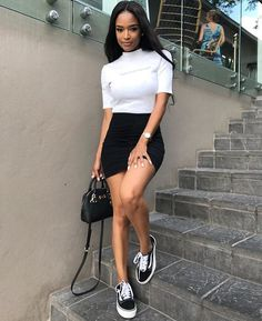 Charming and super summer outfits ideas for spring summer fashion trendy ou. - Charming and super summer outfits ideas for spring summer fashion trendy outfits 2019 The Effe - Skirt Outfits, Chic Outfits, Spring Outfits, Fashion Outfits, Woman Outfits, Womens Fashion, Emo Fashion, Maxi Dresses, Dresses With Vans