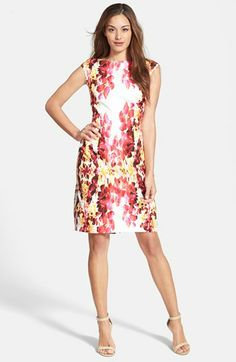Adrianna Papell Floral Print Sheath Dress (Regular & Petite) available at #Nordstrom Easter Dress!