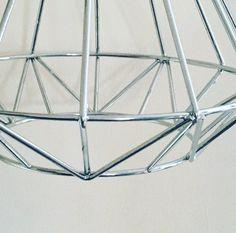 Chrome geometric industrial cage frame - super shiny!