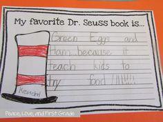 Friday- Read Across America Activities in My Classroom
