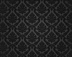 Black damask iphone 4 wallpaper full screen wallpaper for Schwarze mustertapete