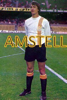 Johan Cruyff con la de Catalunya.