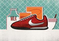 Nike Running Illustrations by Matt Stevens