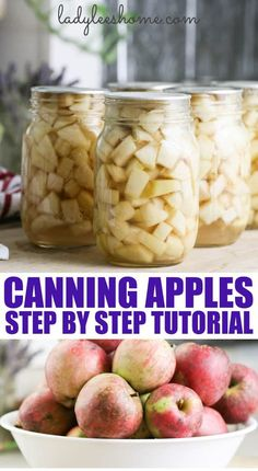 A step by step tutorial on how to can apples at home. This is a great way to preserve apples for baking later! #canningapples #preservingapples #applerecipes #canning #foodpreservation #preserving #homecanning #canningrecipes #recipe #apples Preserving Apples, Canning Apples, Canning Peaches, Canning Vegetables, Canning Pickles, Fresh Fruits And Vegetables, Preserving Food, Canned Meat, Apple Varieties